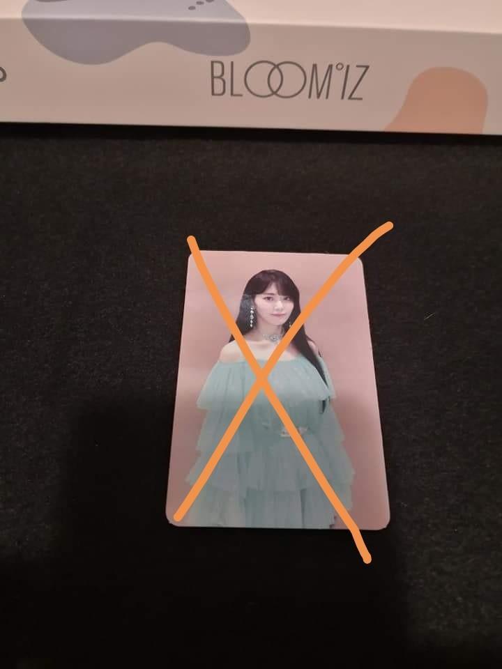 (WTT) IZ*ONE IZONE Bloom*iz photocard, postcard, AR, postcard