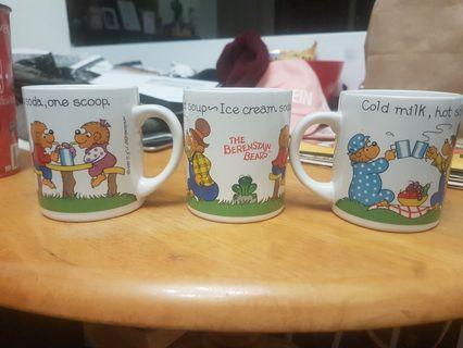 Vintage Berenstein Bears Mugs set of 3