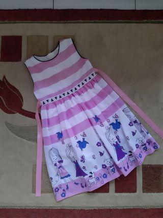 Pink &white girly inside of  dress