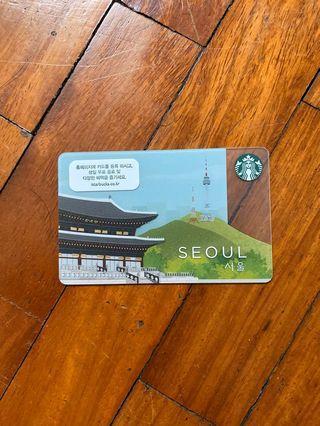 Starbucks Card Seoul
