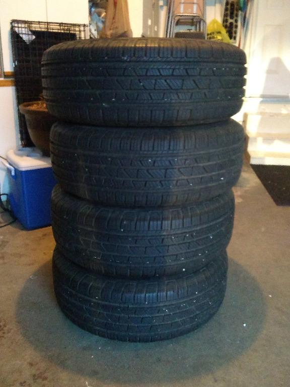 4 LIKE NEW COOPER ALL-SEASON TIRES WITH ALLOY RIMS