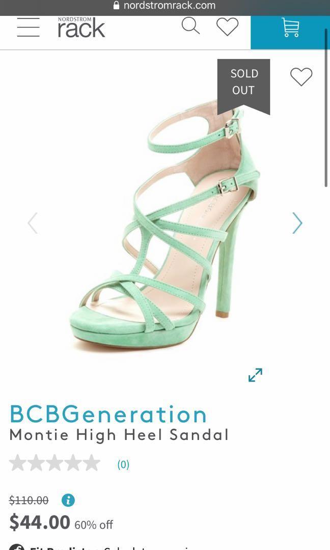 BCBG generation montie high heel sandal size 8 brand new