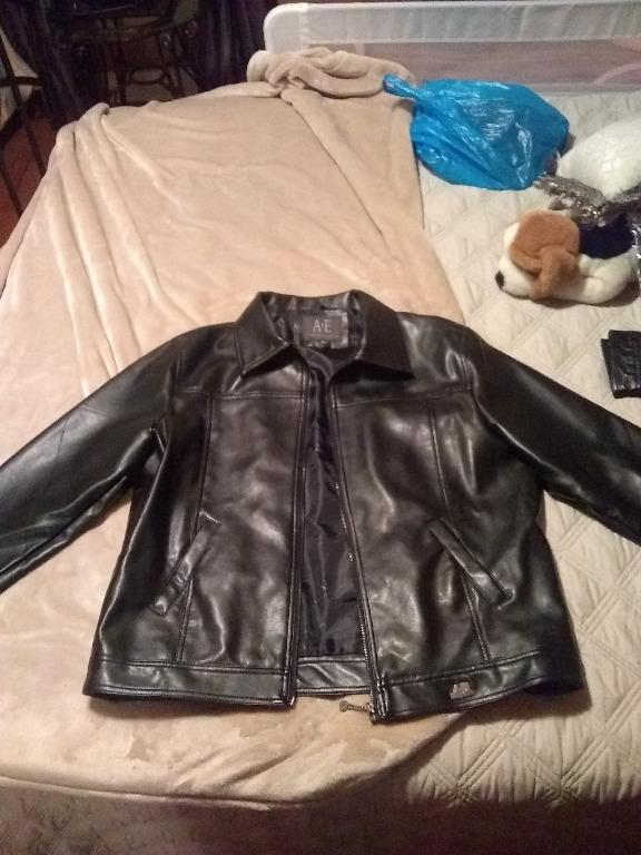 BRAND NEW AE by Emporio Collezioni Leather Style Jacket