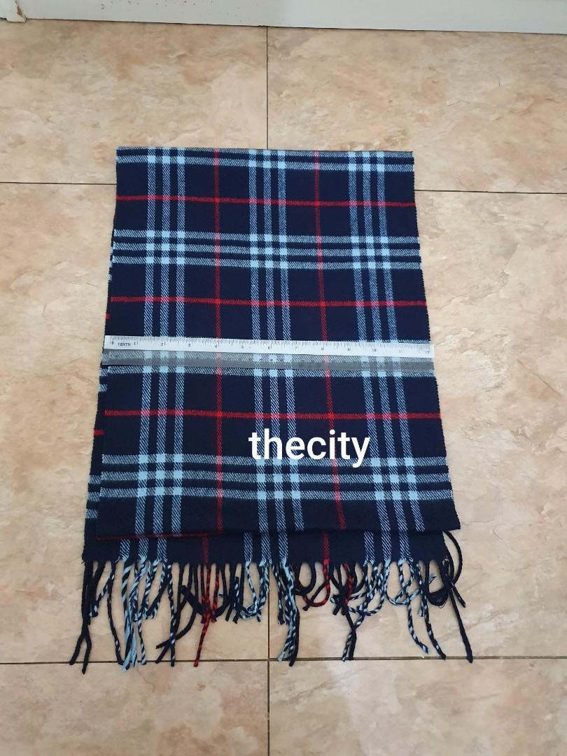 BURBERRY BLUE LABEL (JAPAN) LONG SCARF - CASHMERE / WOOL BLEND - GOOD CONDITION - BLUE COLOR - UNISEX ITEM - MADE IN JAPAN - WITHOUT TAGS -