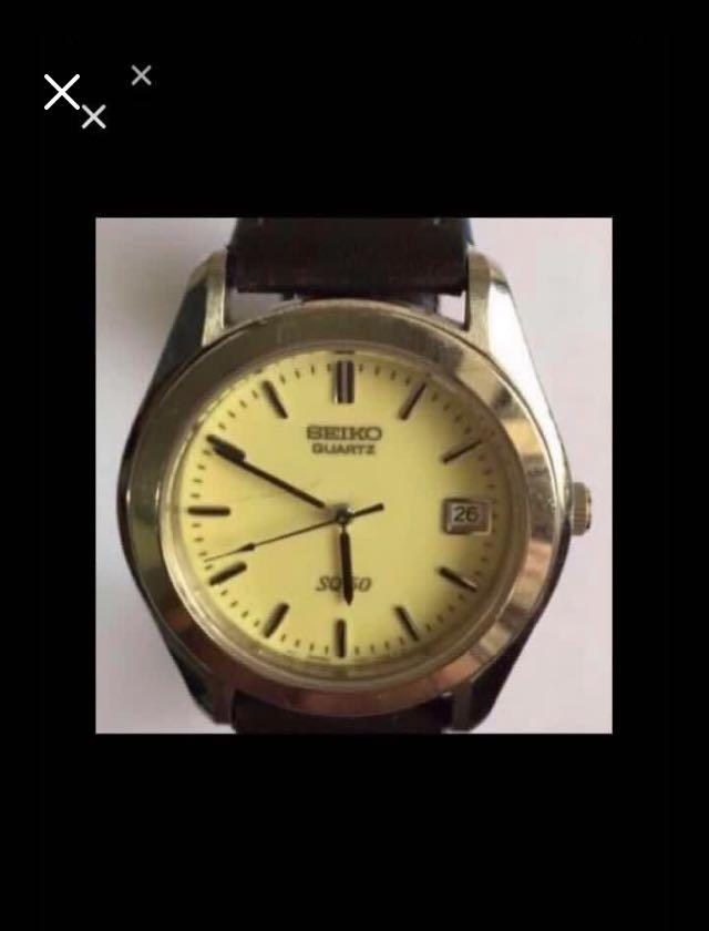CLEARANCE SALES {Collectibles Item - Vintage Dress Watch} Authentic Pre-loved Vintage SEIKO SQ 5Bar Quartz Wrist Watch