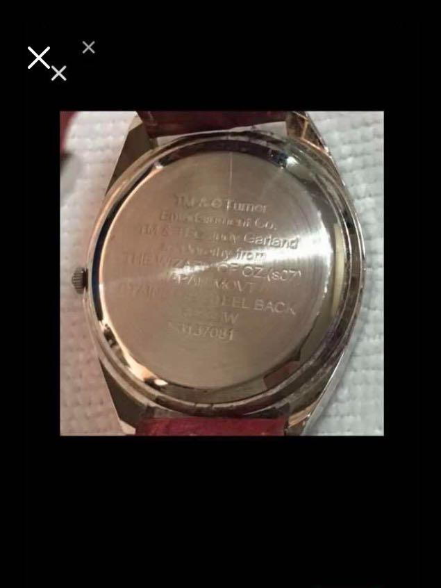 CLEARANCE SALES {Collectibles Item - Vintage Watches} Pre-owned  TM & O Tumor Entertainment CO. Brand Judy Garland As Dorothy From THE WIZARD IF OZ.(s07) JAPAN MOVT Stainless SteelBack Dress Watch Quartz