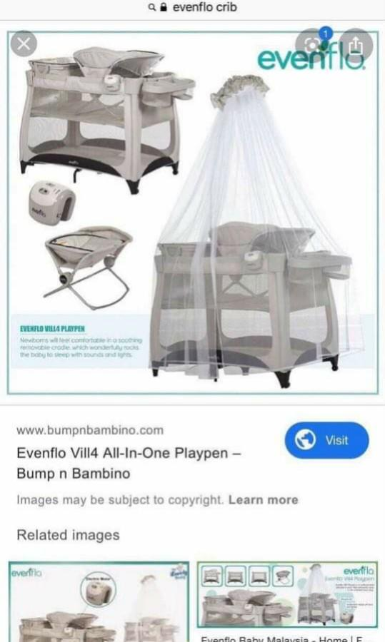 Evenflo Villa All In 1 Playpen Babies Kids Cots Cribs On Carousell