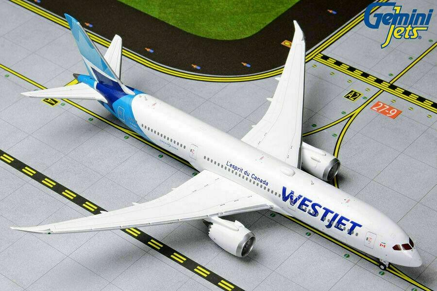 Gemini Jets 1:400 Scale Westjet Boeing 787-9 Dreamliner C-GUDH GJWJA1847