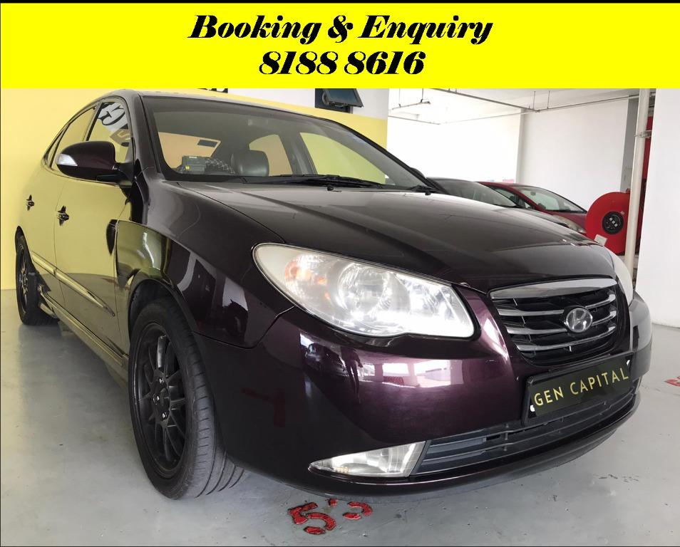 Hyundai Avante HAPPY MONDAY! Most Fuel Eficient & Spacious. Cheapest rental in town with just $500 Deposit driveoff immediately. Whatsapp 8188 8616 now to reserve!