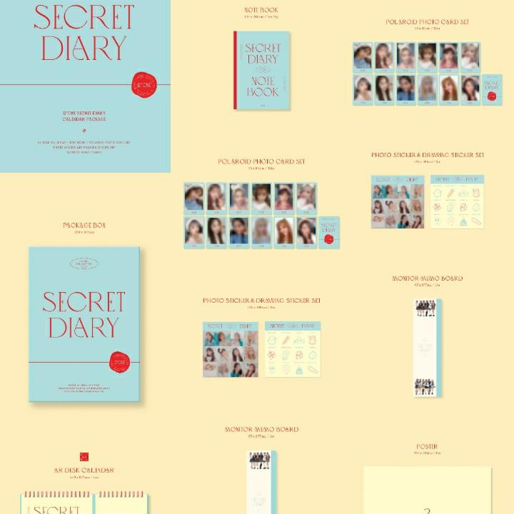 INTEREST CHECK [LOOSE] IZONE IZ*ONE SPRING COLLECTION PHOTOBOOK PACKAGE + CALENDAR PACKAGE