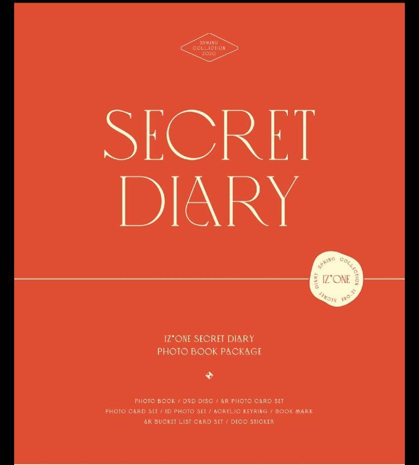 IZONE Secret Diary Loose Set (Hitomi Set available)