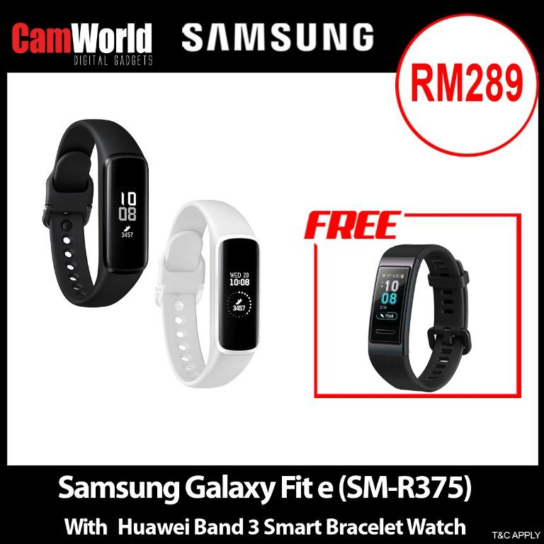Samsung Galaxy Fit e (SM-R375) With Huawei Band 3 Smart Bracelet Watch
