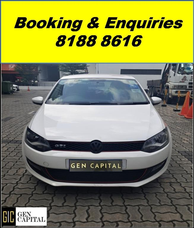 Volkswagen Polo HAPPY MONDAY JUST IN!! Most Fuel Eficient & Spacious. Cheapest rental in town with just $500 Deposit driveoff immediately. Whatsapp 8188 8616 now to reserve!