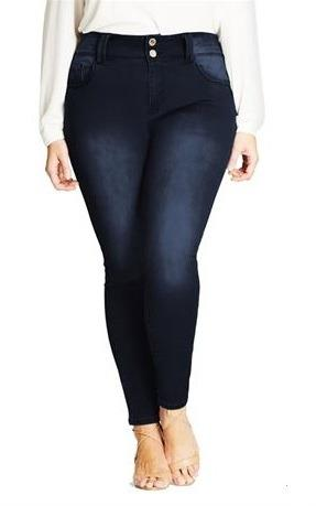 Women's City Chic Asha Petite Highrise Skinny Denim Jeans (Size 22R)