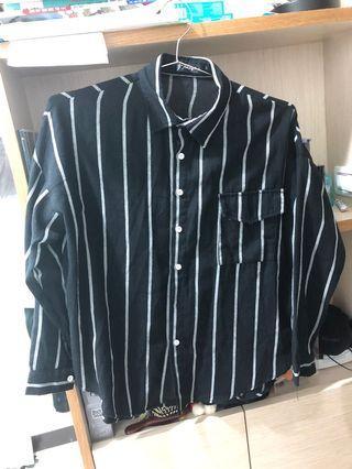 韓系直條紋襯衫