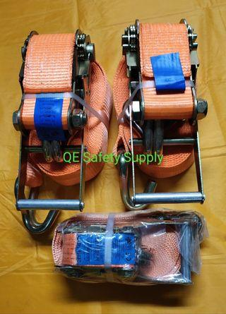Goodyear Racing Ratchet Tie Downs Set of 4 16ft 4.9m 3300LBS 1100Lbs with Storage Bag
