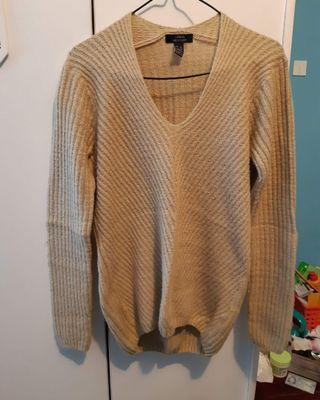 Thick knit oversized sweater