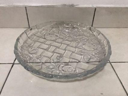 Luxurious Big Crystal Serving Tray