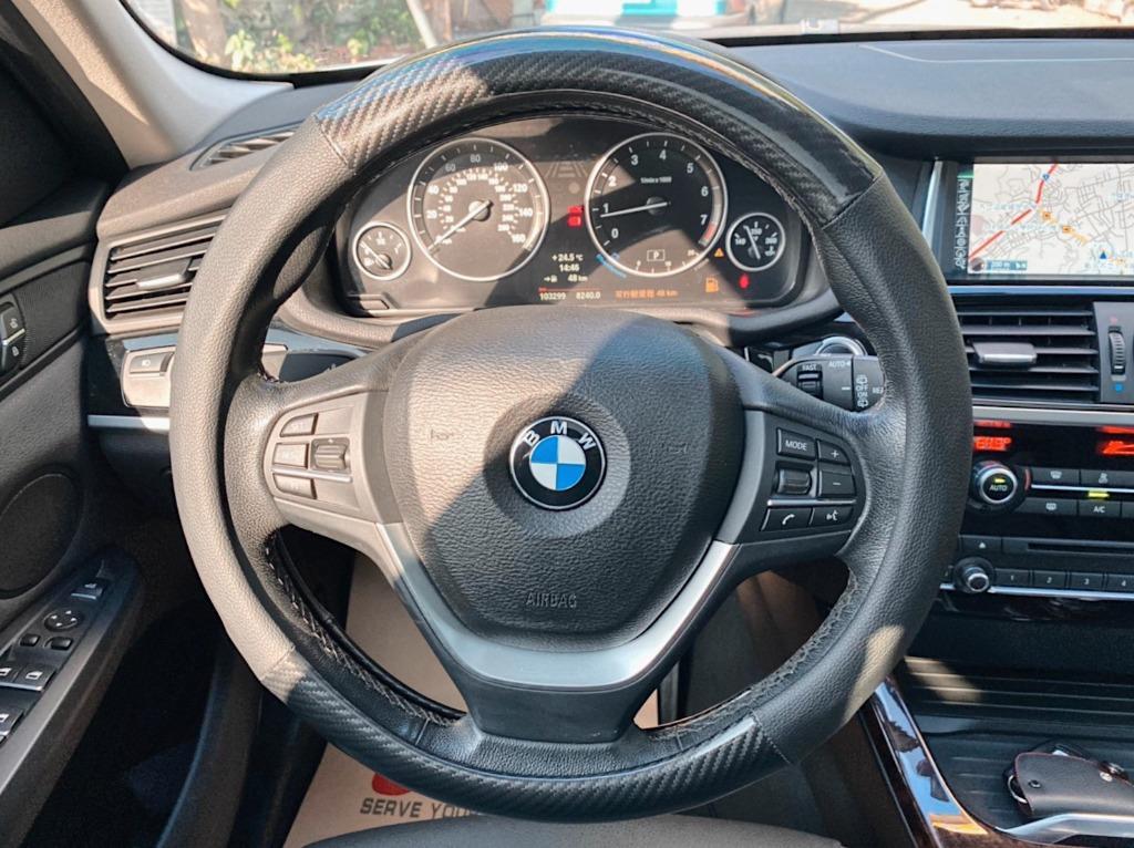 正2014年出廠 BMW X3 X-Drive 28i 領航版 M-Sport運動鋁圈 雙LED魚眼頭燈+黑鼻頭 保證只要115.8萬