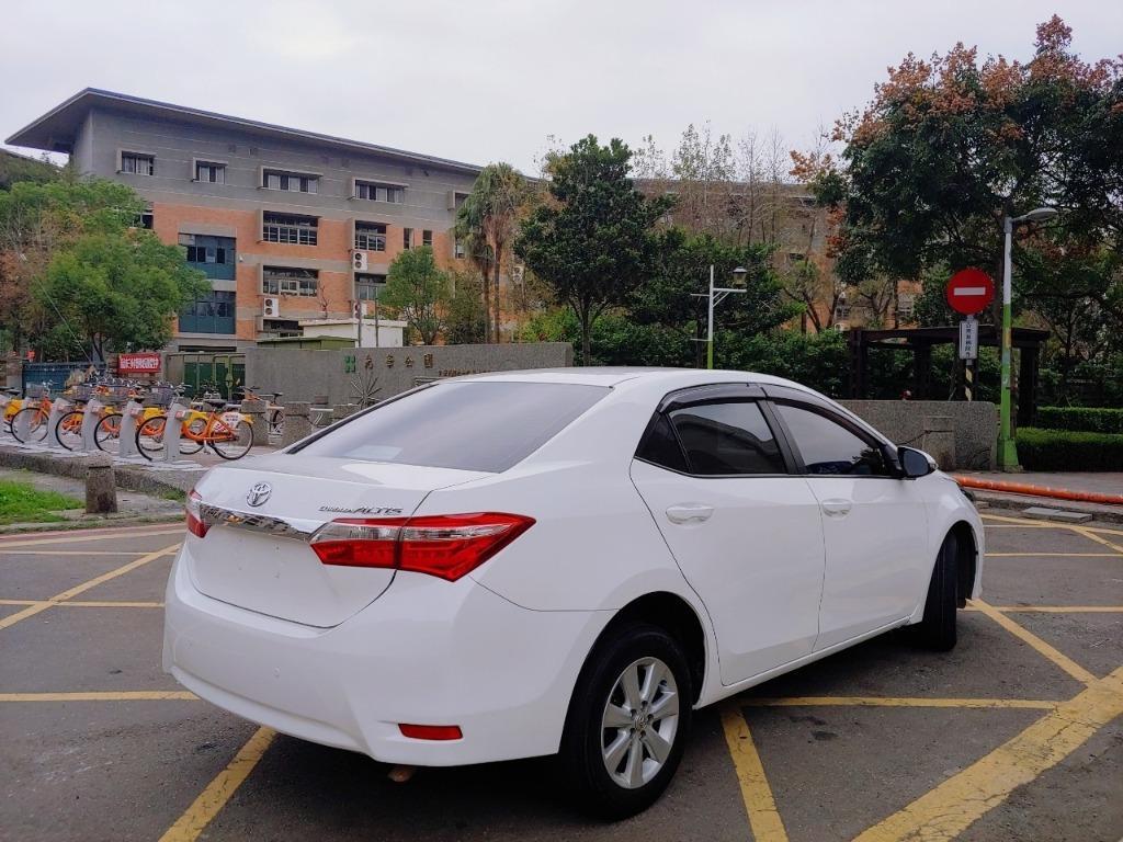 全台最便宜 實車實價 正2014 最新款Altis 1.8白色運動版十吋安卓機 全額貸款 找錢車 非自售 一手車