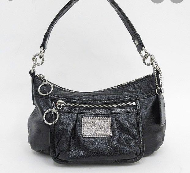 Authentic Coach Poppy Patent  Black Purse🔥Price drop 🔥