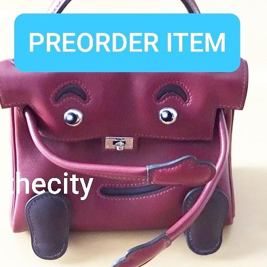 AUTHENTIC HERMES IDOL KELLY - RED - OVERALL OK / FAIR - COMES WITH BABABEI CERT - BAG ITSELF - (MARKET PRICE UP TO RM 200,000+)