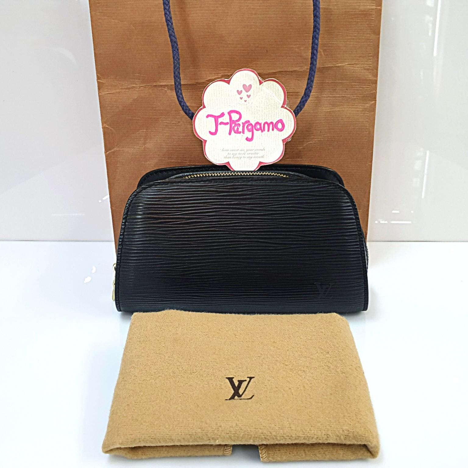 Authentic Louis Vuitton Vintage Epi Leather Dauphine Pouch PM {{Only For Sale}}**No Trade** {{Fixed Price}}**定价**