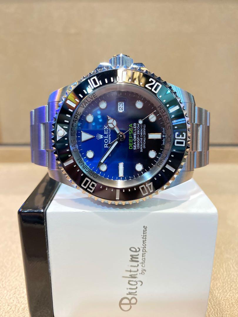 "Brand New Rolex Oyster Deepsea Sea Dweller 126660 ""James Cameron"" Blue Dial Automatic Steel Casing Bracelet"