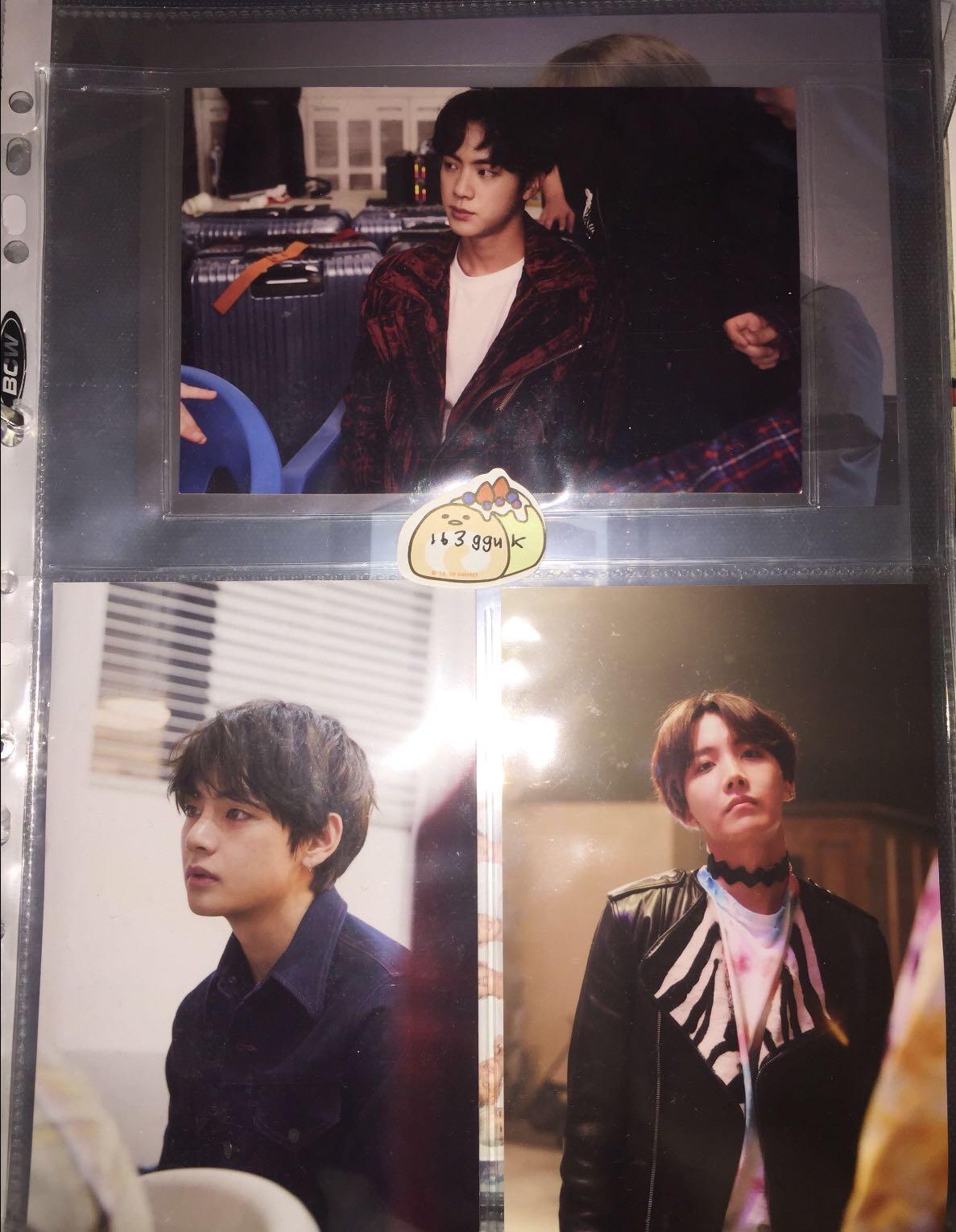 bts oneul exhibition live photo / pc / photocard taehyung hobi