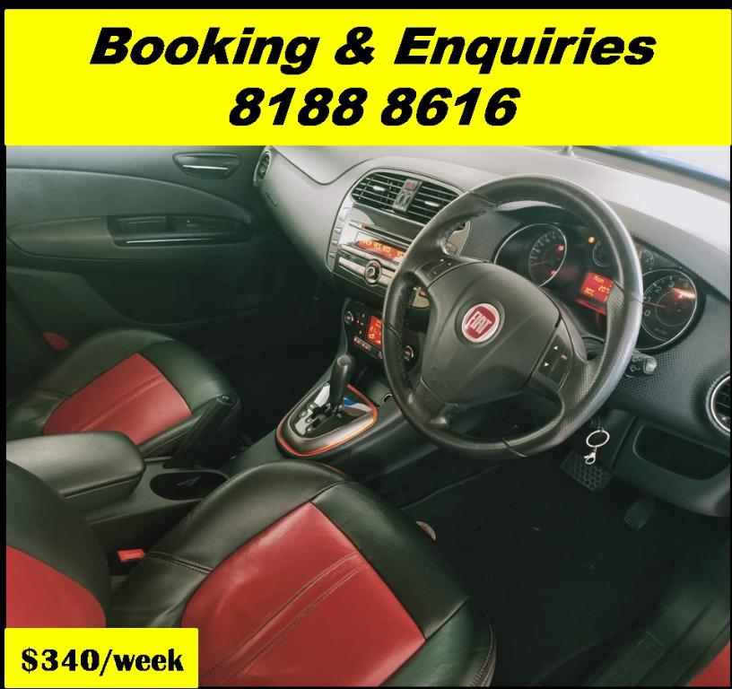 Fiat Bravo HAPPY TUESDAY!! Best thing comes in pairs. Get your family, relative, friends to rent together to enjoy further discounts with 2 free days rental!! Superb Condition just $500 Deposit driveoff immediately. Whatsapp 8188 8616 now!