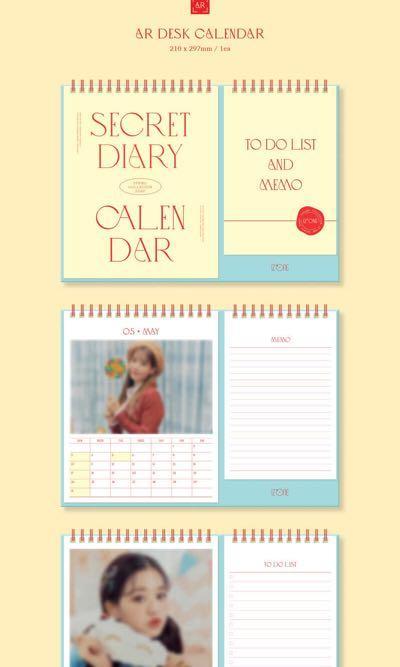 [GO] IZONE IZ*ONE Secret Diary Photobook Calendar Package