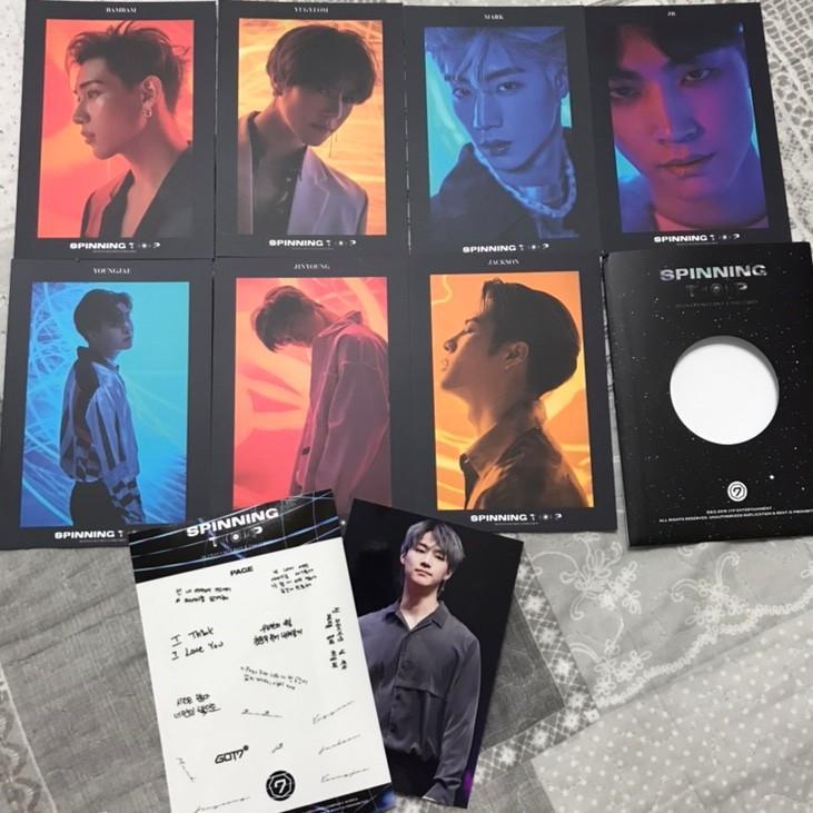 GOT7 special cards + sticker spinning top preorder benefit