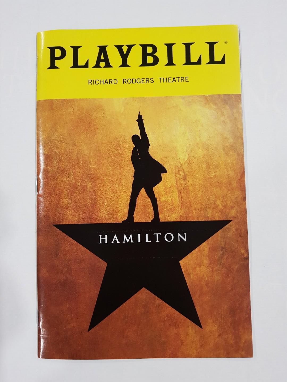 Hamilton Musical Playbill Tony Winner for Best Musical Lin-Manuel Miranda