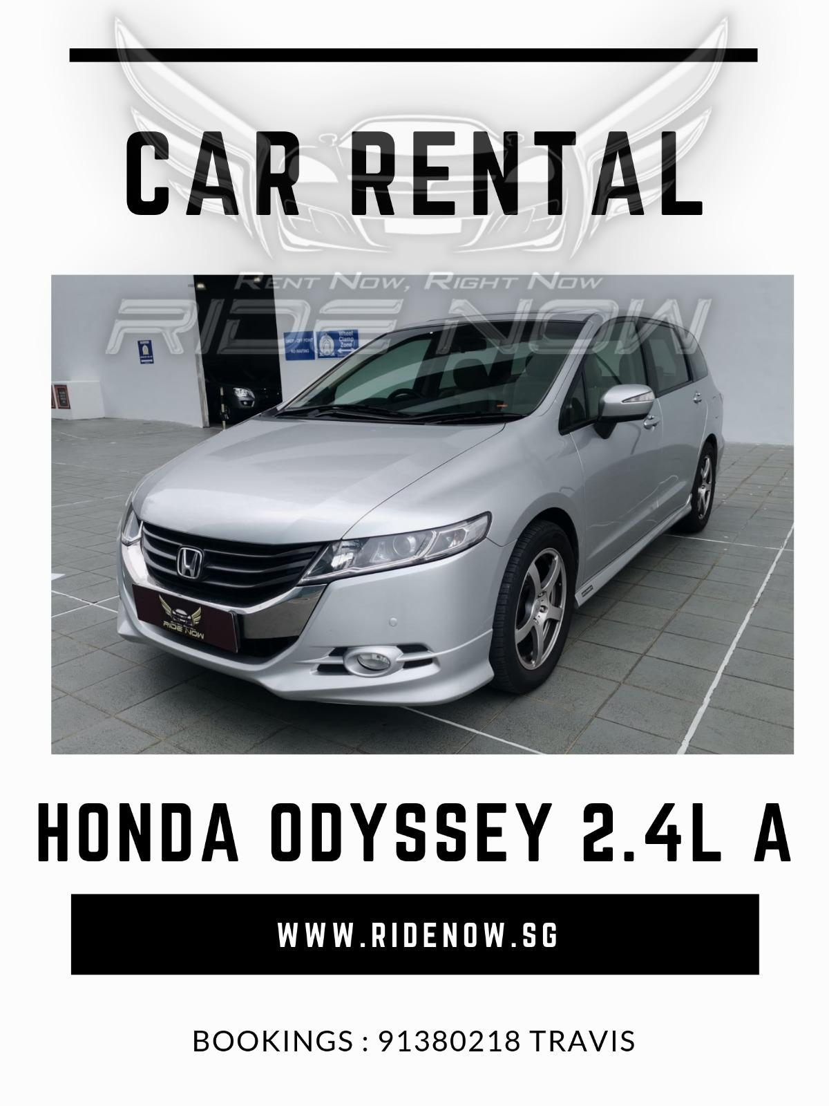 Honda Odyssey 2.4A (7-seater) Comfortable MPV available for Personal and Private Hire Use