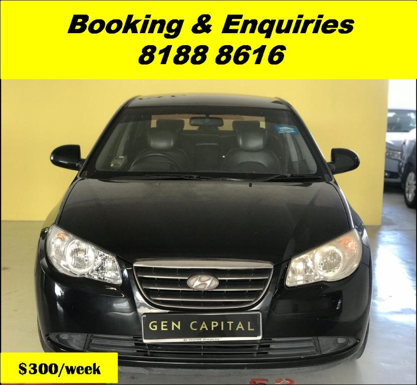 Hyundai Avante HAPPY TUESDAY!! Best thing comes in pairs. Get your family, relative, friends to rent together to enjoy further discounts with 2 free days rental!! Superb Condition just $500 Deposit driveoff immediately. Whatsapp 8188 8616 now!