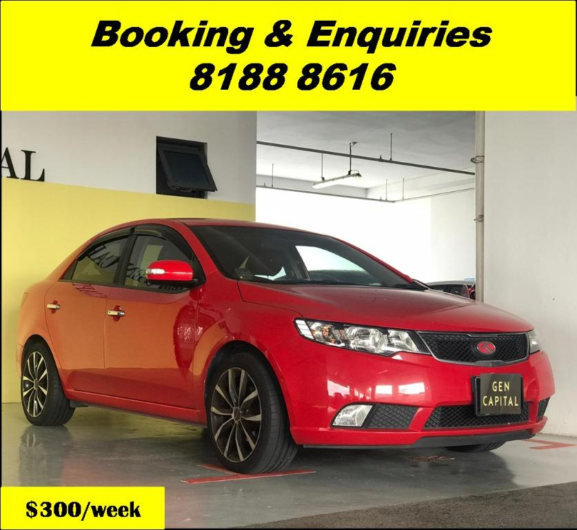 Kia Cerato HAPPY TUESDAY!! Best thing comes in pairs. Get your family, relative, friends to rent together to enjoy further discounts with 2 free days rental!! Superb Condition just $500 Deposit driveoff immediately. Whatsapp 8188 8616 now!