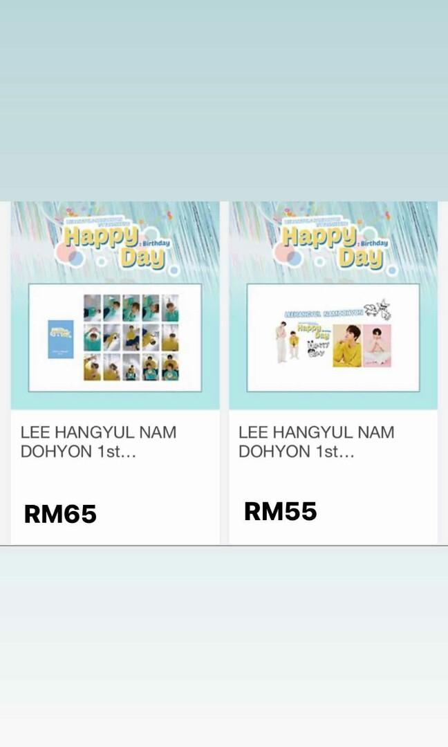 LEE HANGYUL & NAM DOHYON 1st Fanmeeting 'Happy Day : Birthday' MD merchandise