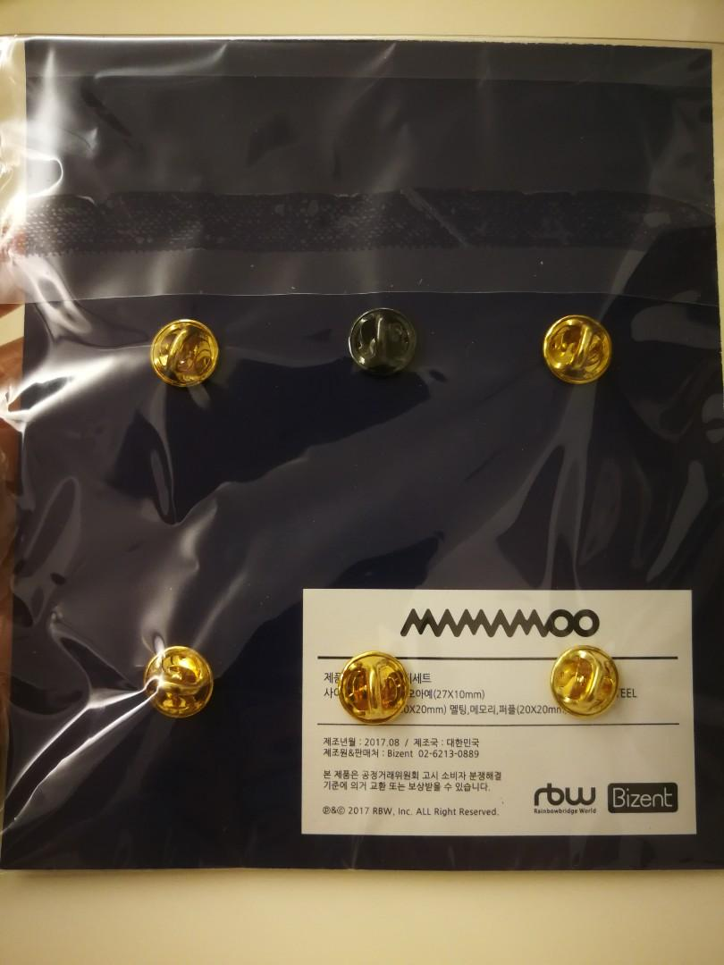 MAMAMOO- ALBUM COLLECTION BADGE SET (OFFICIAL MERCHANDISE)