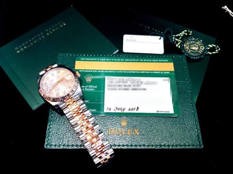 NOS. ROLEX Datejust THIRTY ONE, 178271 Everose Rolesor, 31mm, Mid/Boy-size, Alphanumeric Series @ Year 2018, July Ladies Watch