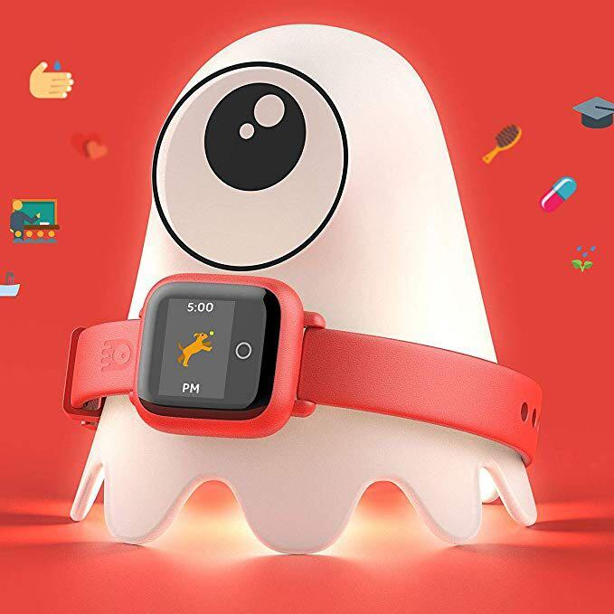 Octopus Kids Smart Watch - Red - Plan Activities, Responsibilities and Healthy Habits - Fitness Tracker - Night Light Included