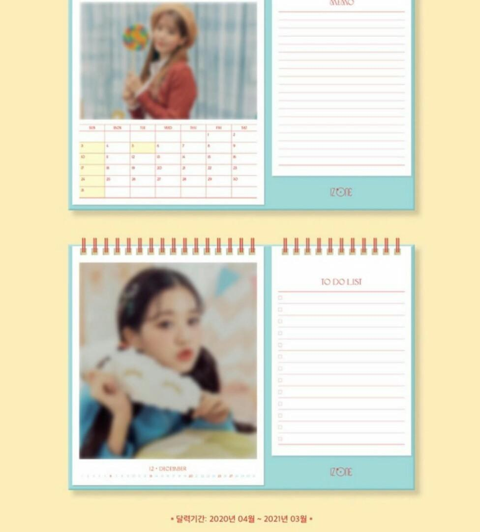 [PRE ORDER] IZONE: SPRING COLLECTION - SECRET DIARY <Calendar Package>