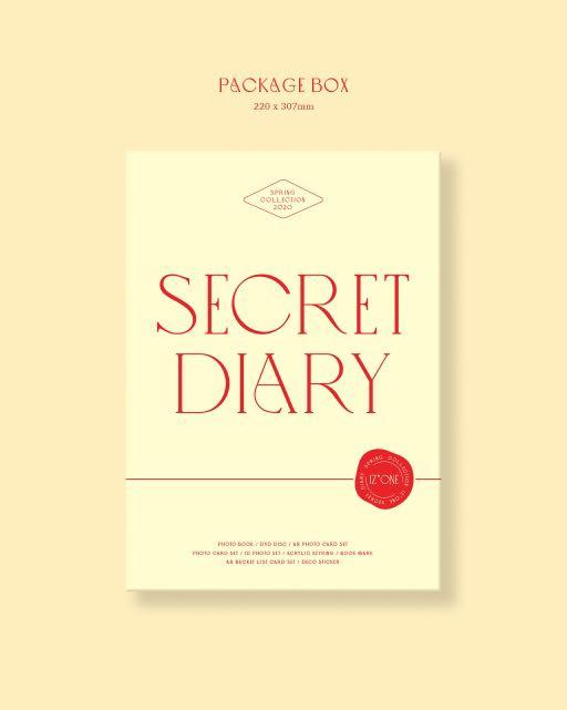 [PREORDER] IZONE SPRING COLLECTION SECRET DIARY (PHOTOBOOK PACKAGE)