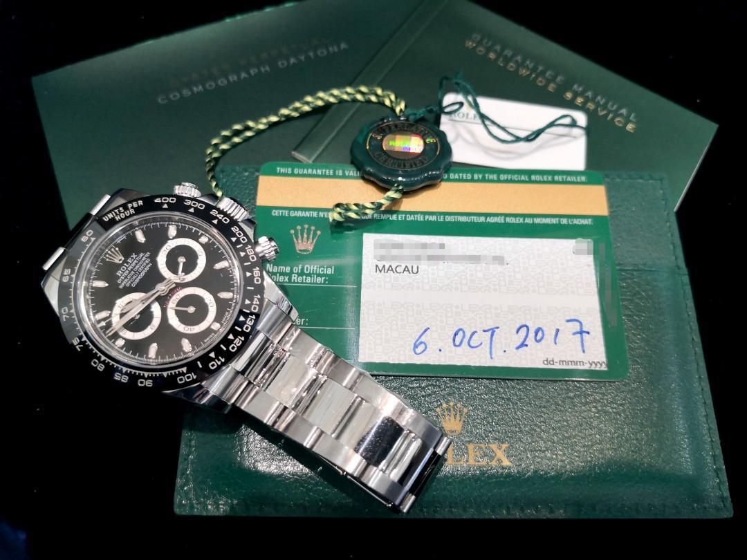 PREOWNED ROLEX COSMOGRAPH Daytona, 116500 LN, Oystersteel, 40mm, Alphanumeric Series @ Year 2017, Nov. Mens Watch