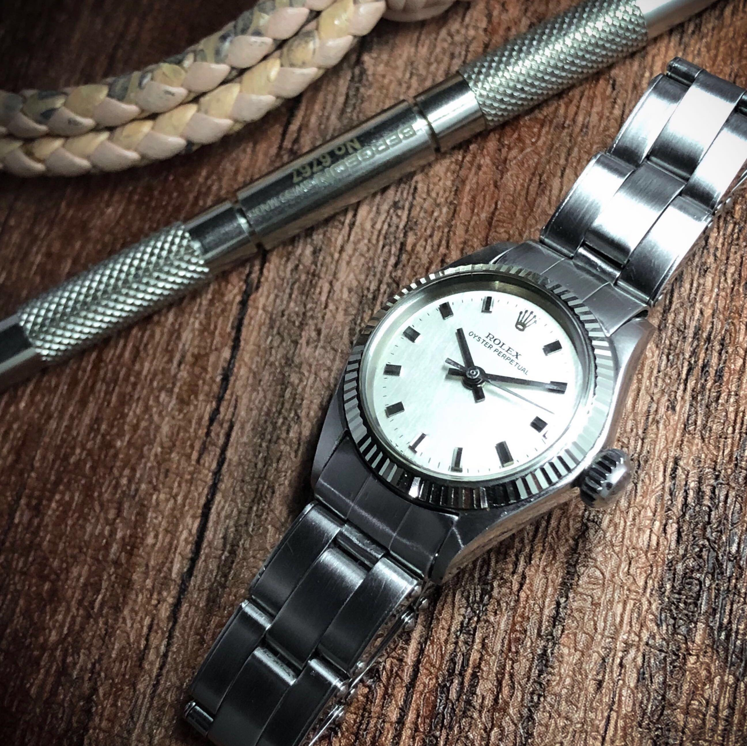 SOLD- Rare Rolex Lady Oyster Perpetual Automatic ref 6619 w Amazing box marker Factory Dial!