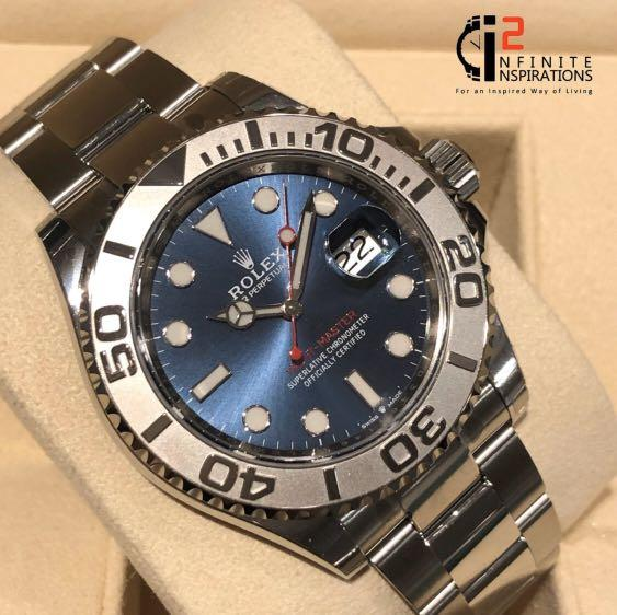 Rolex Yacht Master Ref 116622 Blue Dial 40mm - Unworn Complete Set with Box and Papers. Watch from overseas AD