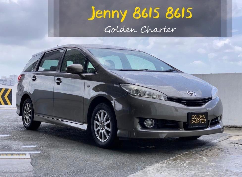 Toyota wish*new facelift*ECO save petrol mpv 7 seater gojek incentive rebate.phv ready for grab.personal use cheaper rental $500 deposit drive away