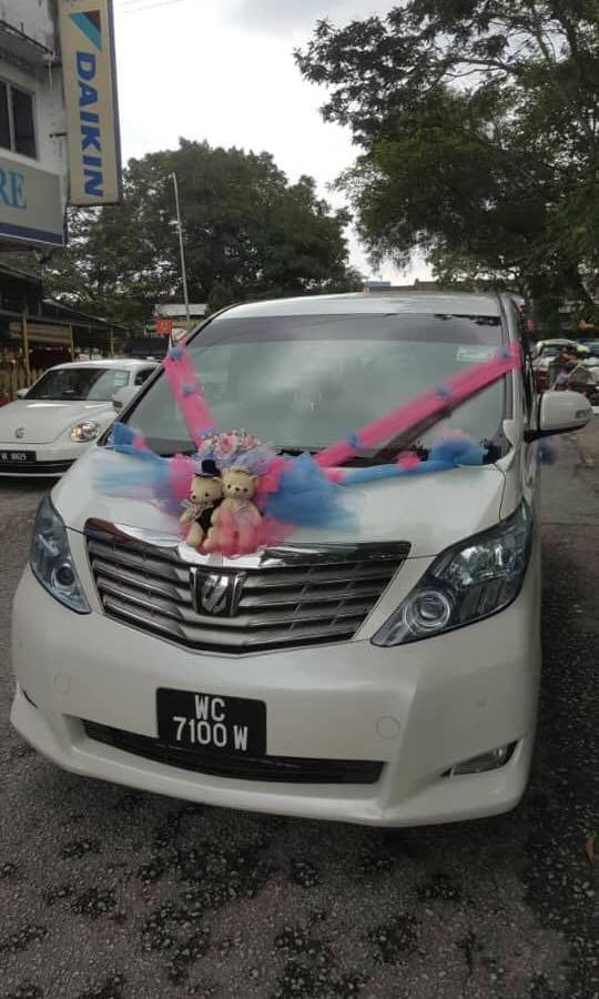 Vellfire and alphard rental with wedding car decoration