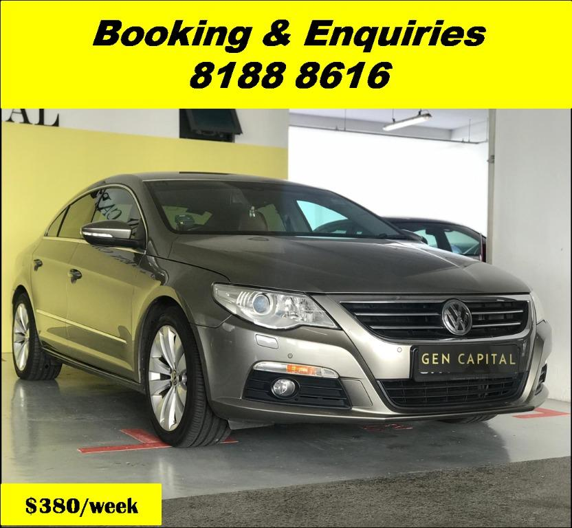 Volkswagen Passat HAPPY TUESDAY!! Best thing comes in pairs. Get your family, relative, friends to rent together to enjoy further discounts with 2 free days rental!! Superb Condition just $500 Deposit driveoff immediately. Whatsapp 8188 8616 now!