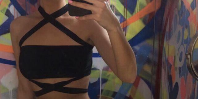 Black Crop top Fashion Nova