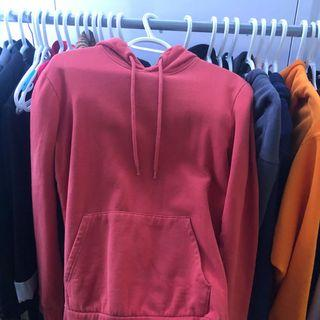 Topshop burnt orange hoodie
